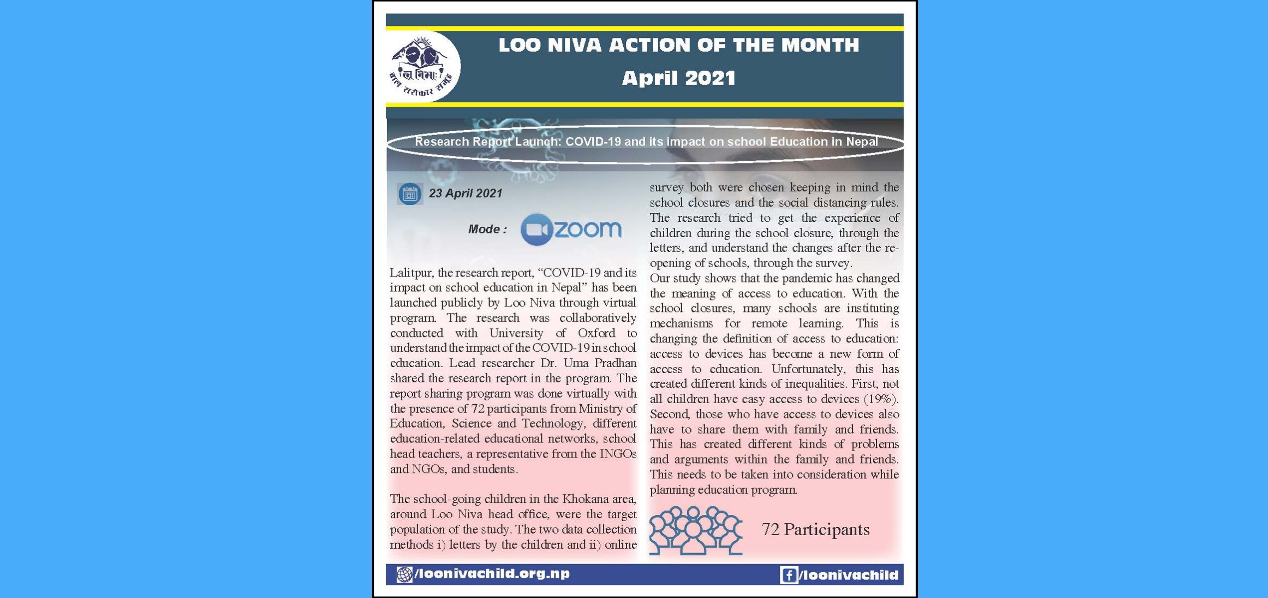 Action Of the Month April 2021