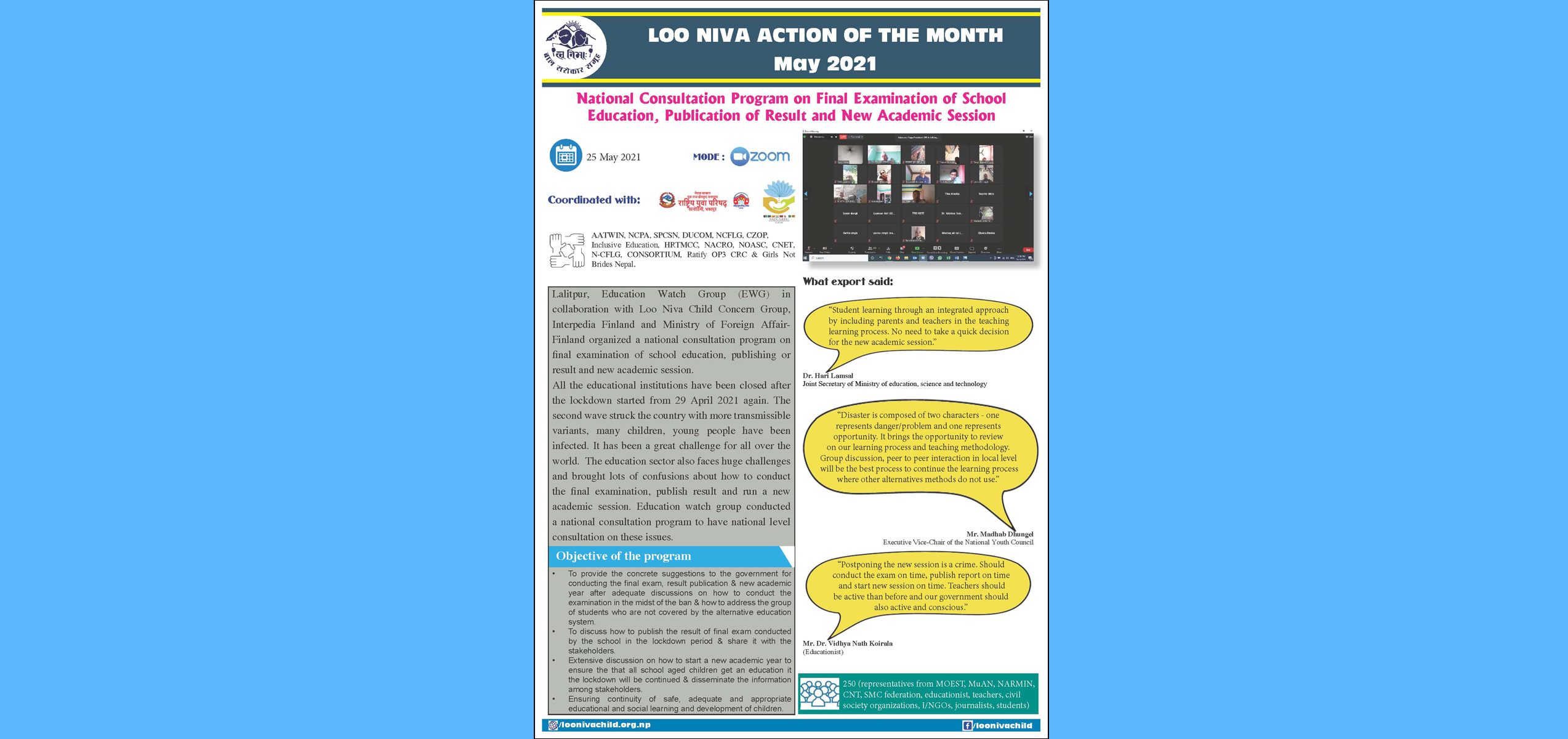 Action Of the Month May 2021