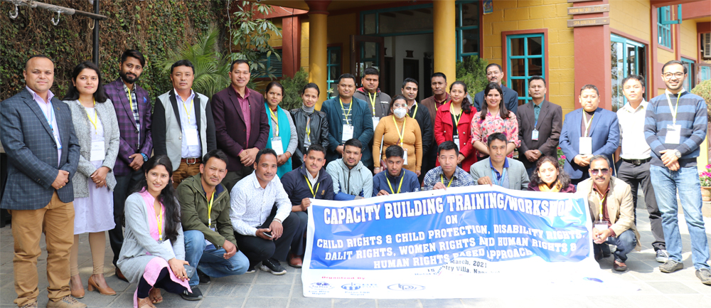 Capacity Building Training/Workshop on Child Rights and Child Protection, Disability, Dalit, Women a